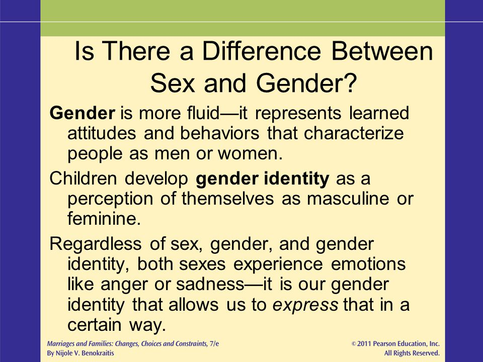 Is There a Difference Between Sex and Gender