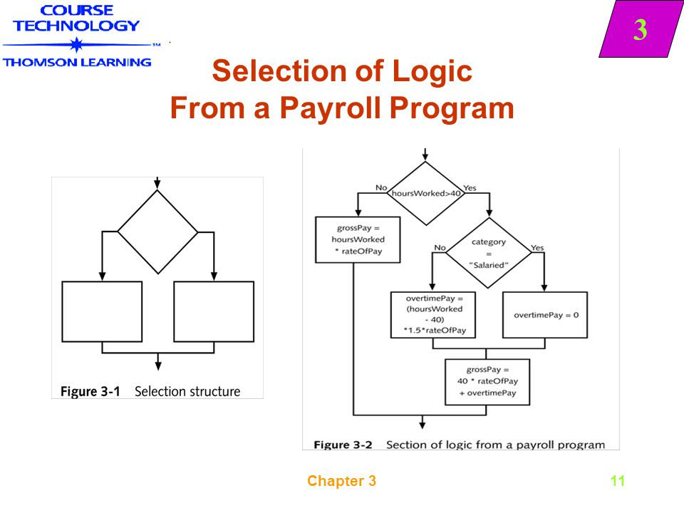 Selection of Logic From a Payroll Program