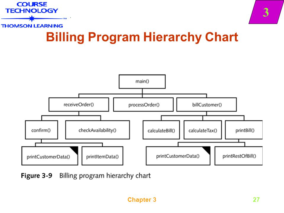 Billing Program Hierarchy Chart