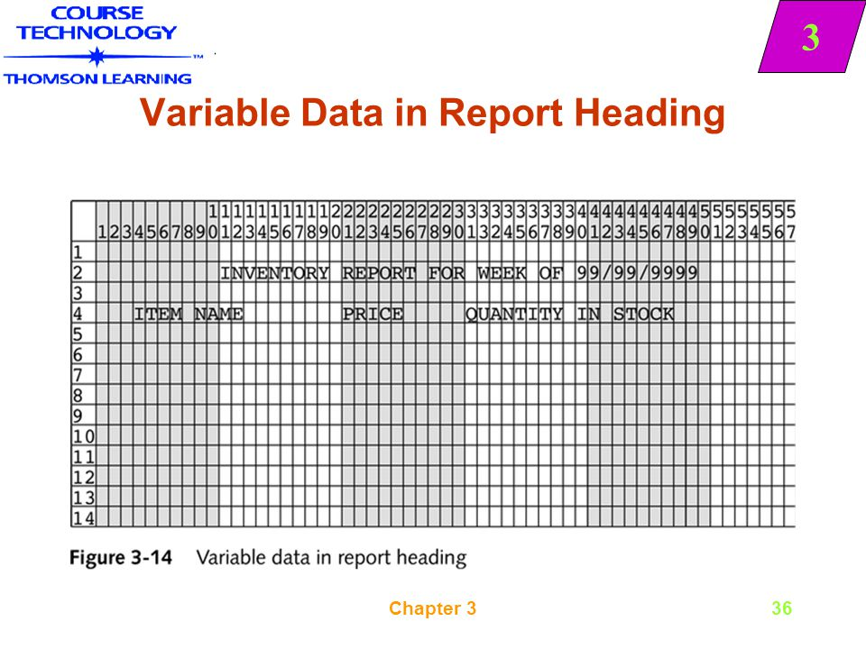 Variable Data in Report Heading