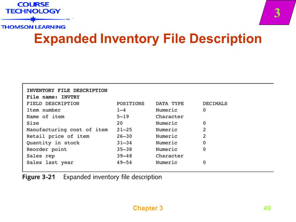 Expanded Inventory File Description