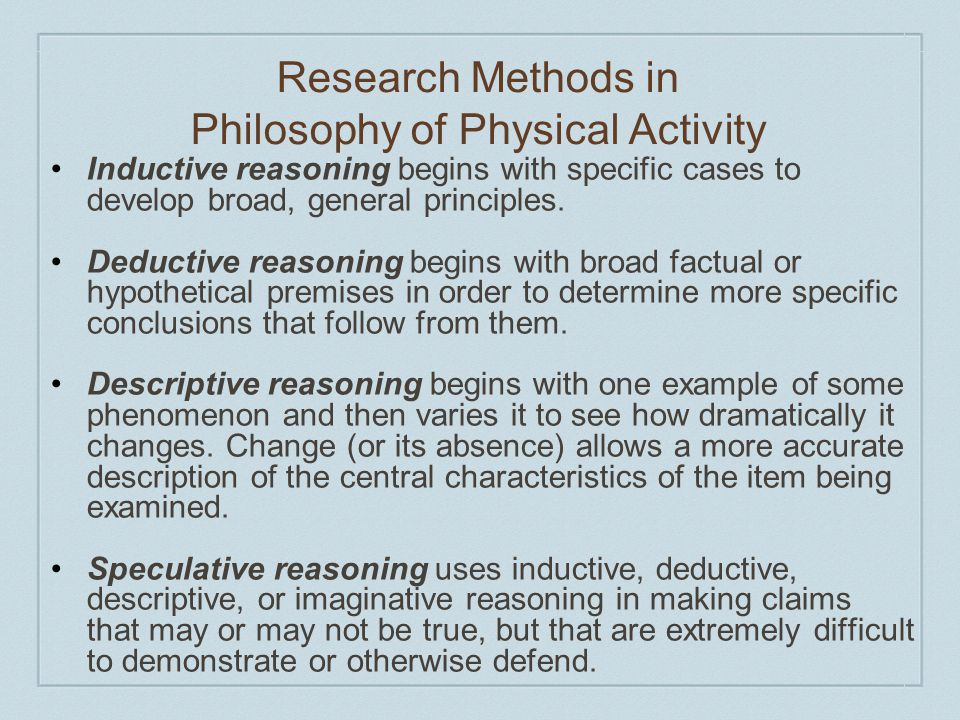 Research Methods in Philosophy of Physical Activity