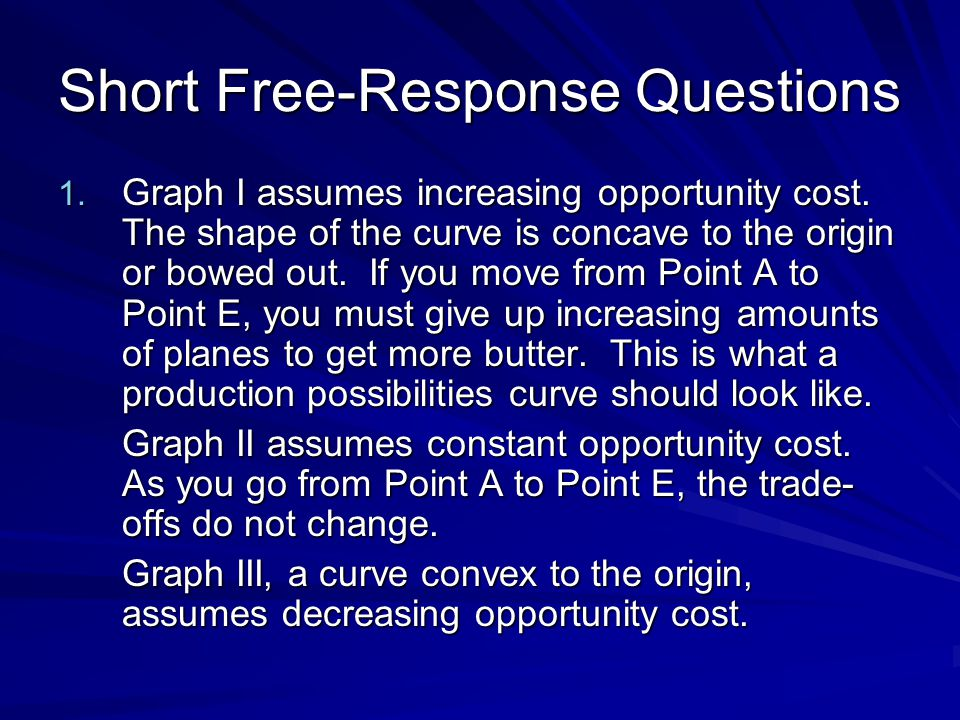Short Free-Response Questions