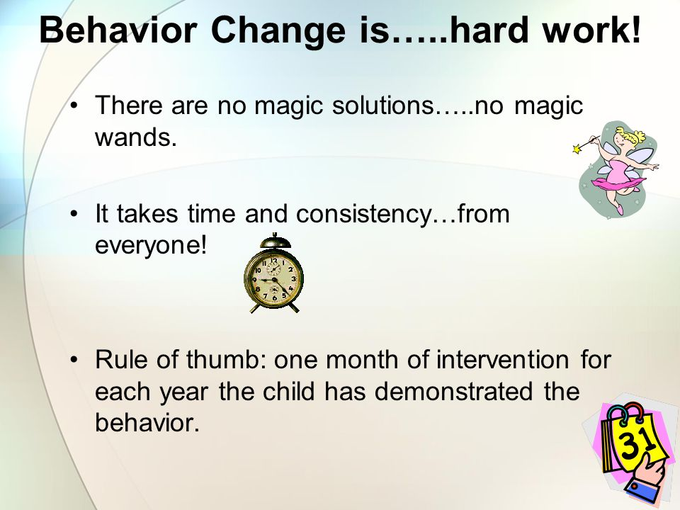 Behavior Change is…..hard work!
