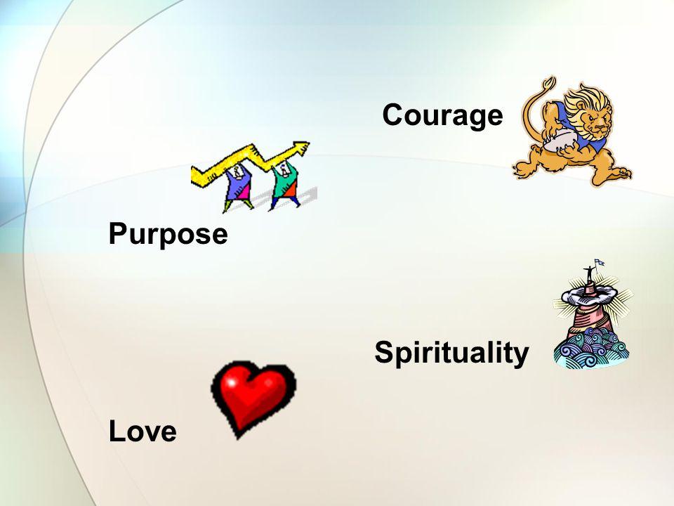 Courage Purpose Spirituality Love