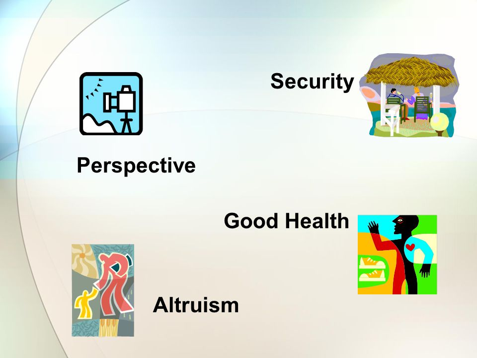Security Perspective Good Health Altruism