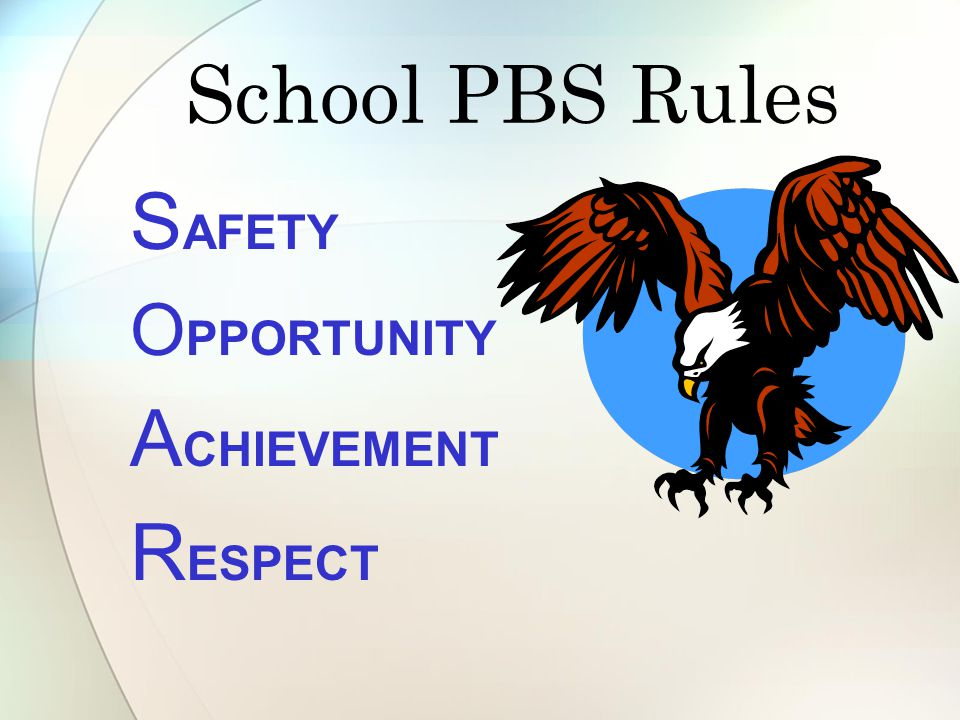School PBS Rules SAFETY OPPORTUNITY ACHIEVEMENT RESPECT