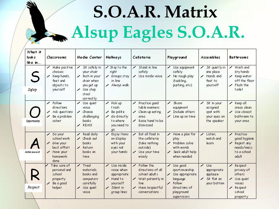 S.O.A.R. Matrix Alsup Eagles S.O.A.R.