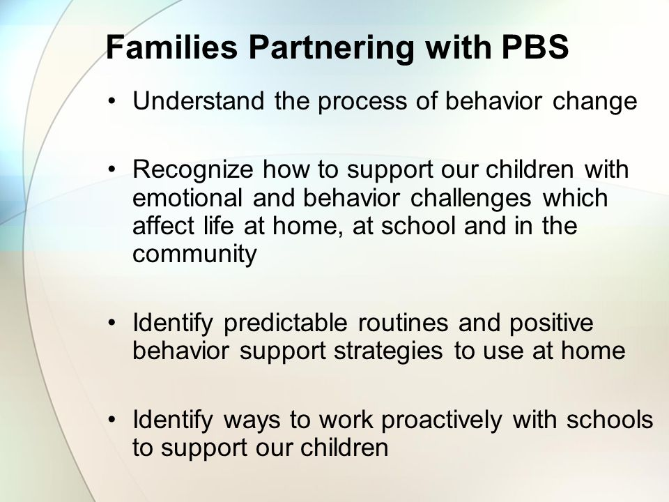 Families Partnering with PBS