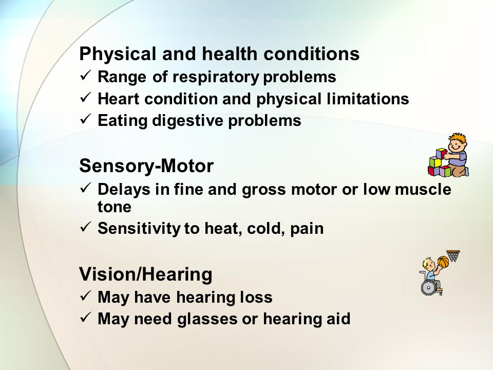Physical and health conditions