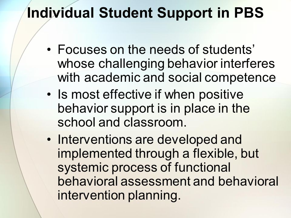 Individual Student Support in PBS