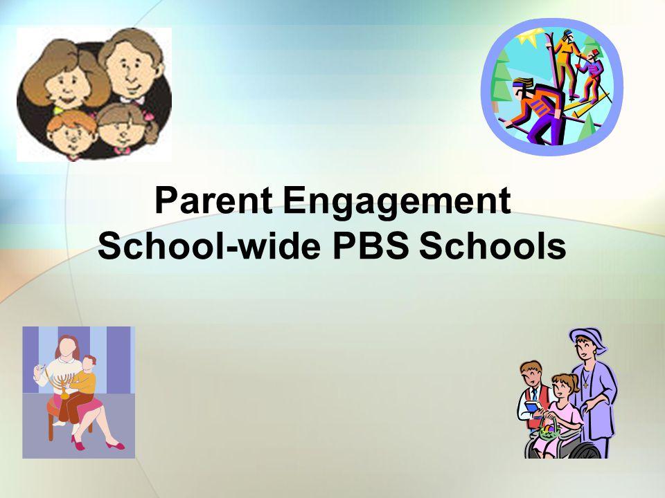Parent Engagement School-wide PBS Schools