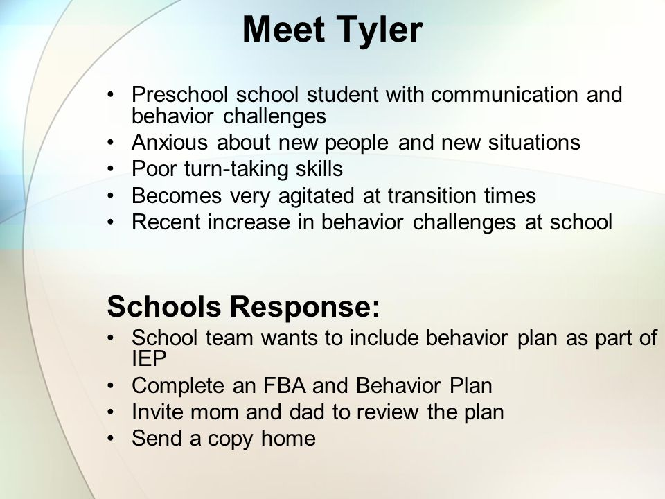 Meet Tyler Schools Response: