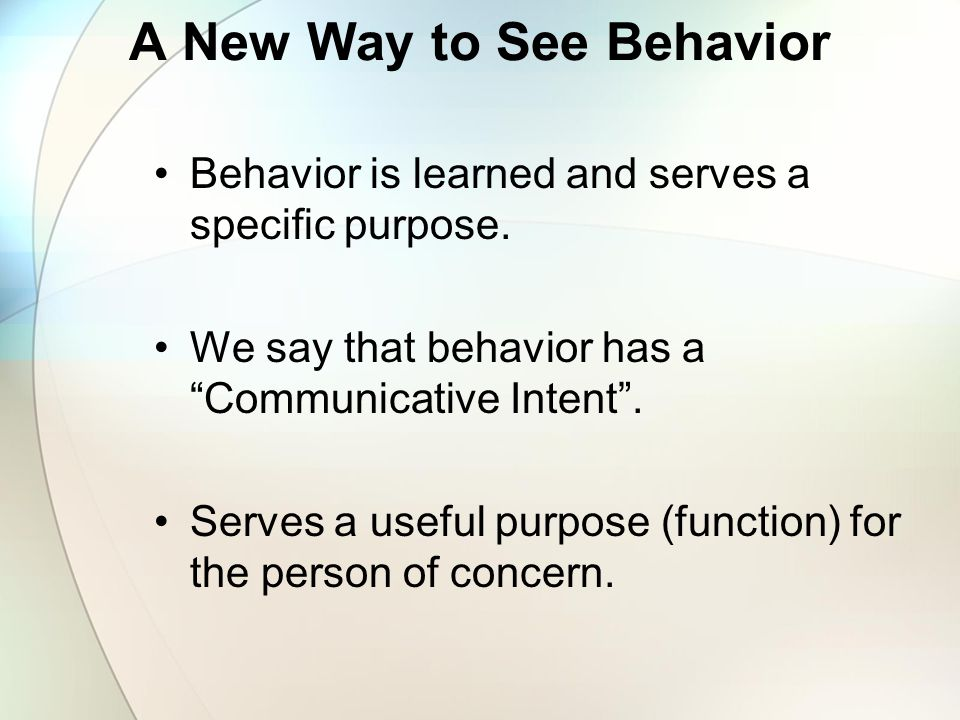 A New Way to See Behavior