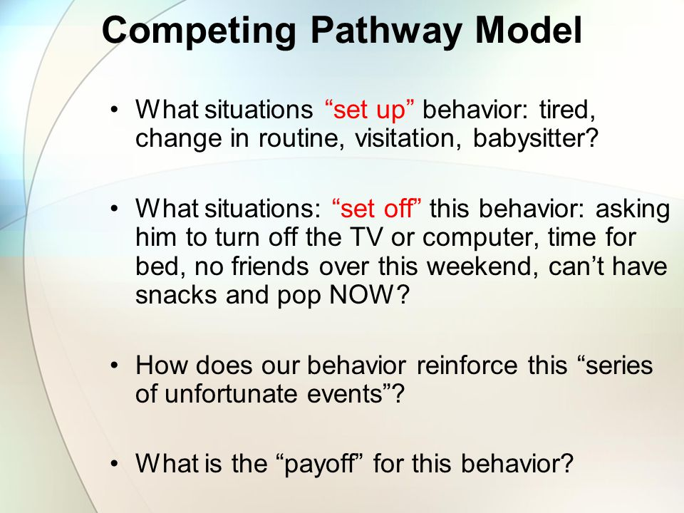 Competing Pathway Model