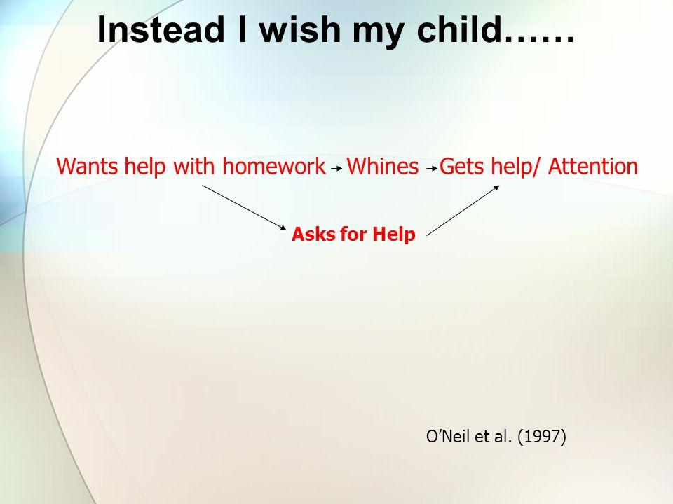 Instead I wish my child……