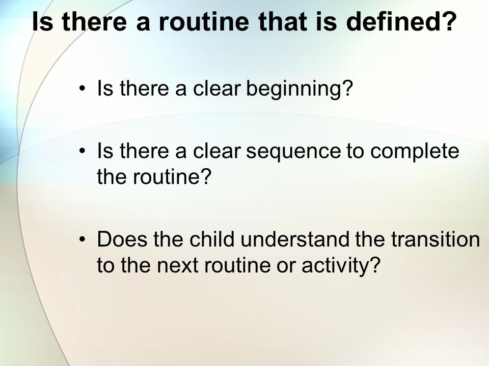 Is there a routine that is defined