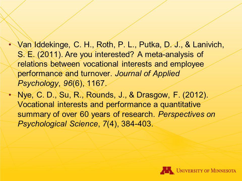 Van Iddekinge, C. H. , Roth, P. L. , Putka, D. J. , & Lanivich, S. E