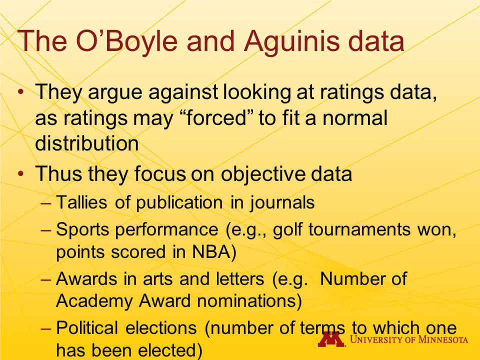 The O'Boyle and Aguinis data