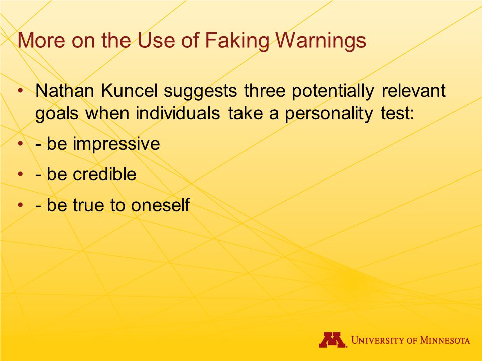 More on the Use of Faking Warnings