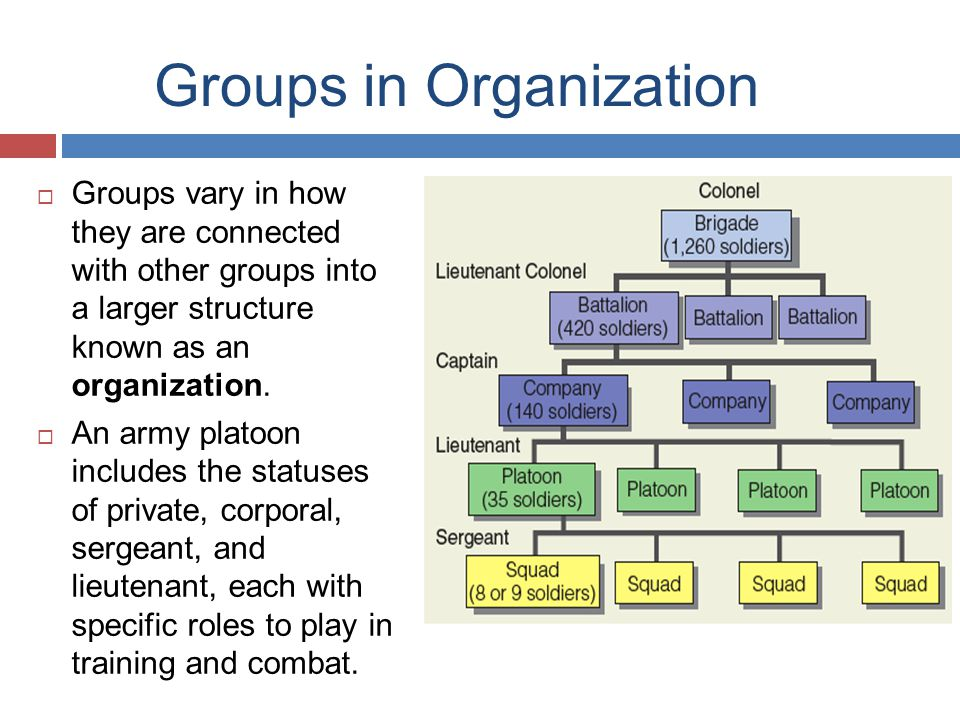 Groups in Organization