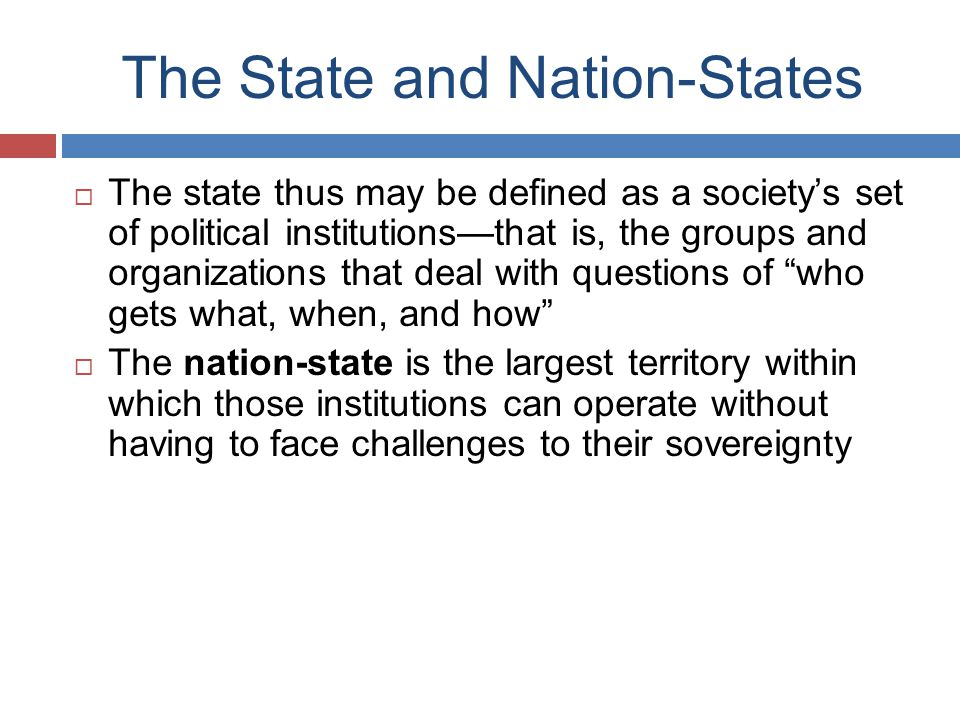 The State and Nation-States