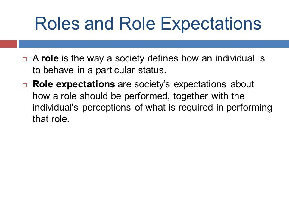 Roles and Role Expectations