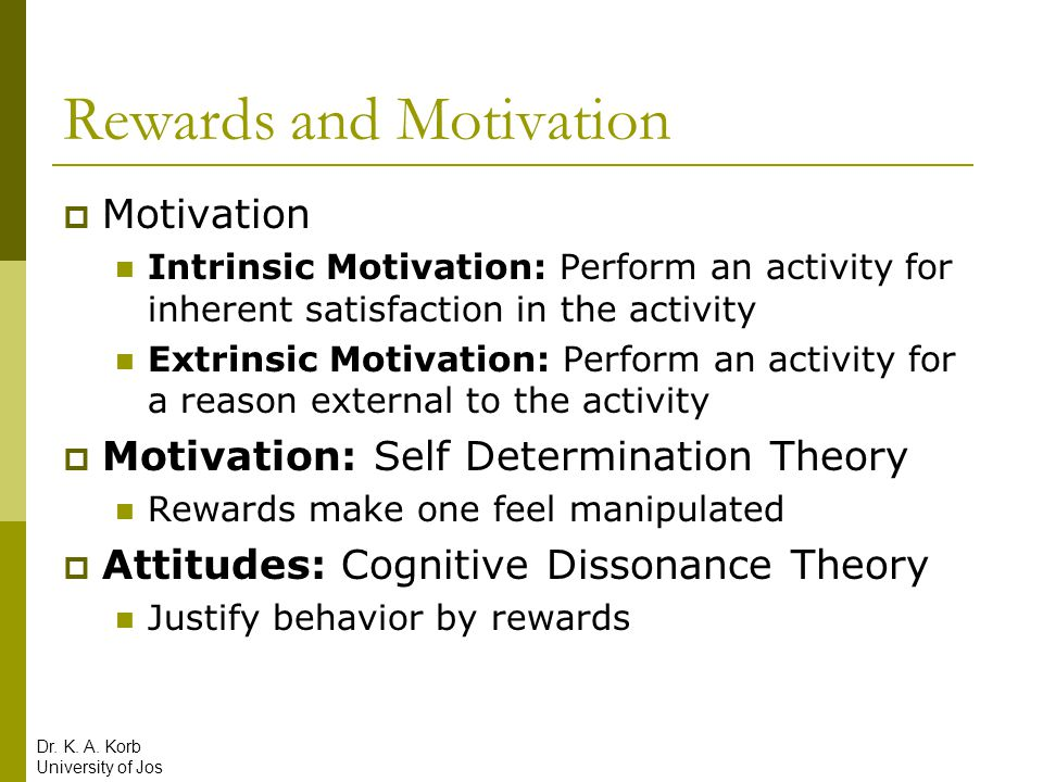 Rewards and Motivation