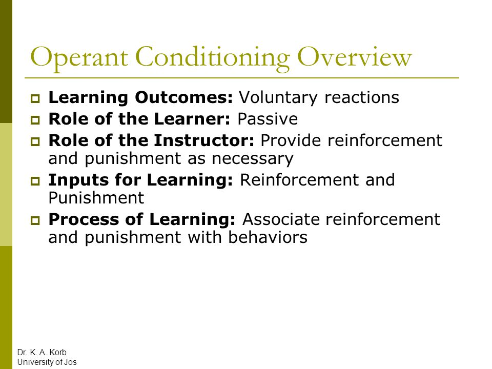 Operant Conditioning Overview