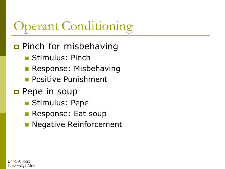 Operant Conditioning Pinch for misbehaving Pepe in soup