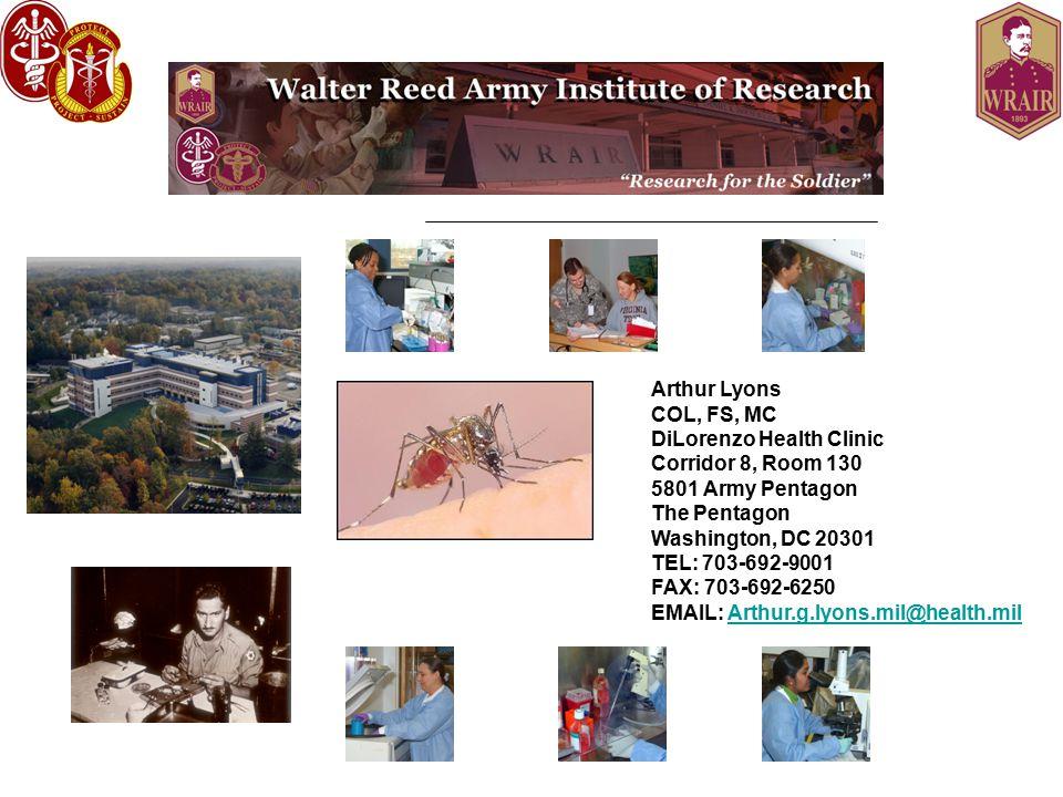 Arthur Lyons COL, FS, MC DiLorenzo Health Clinic Corridor 8, Room 130