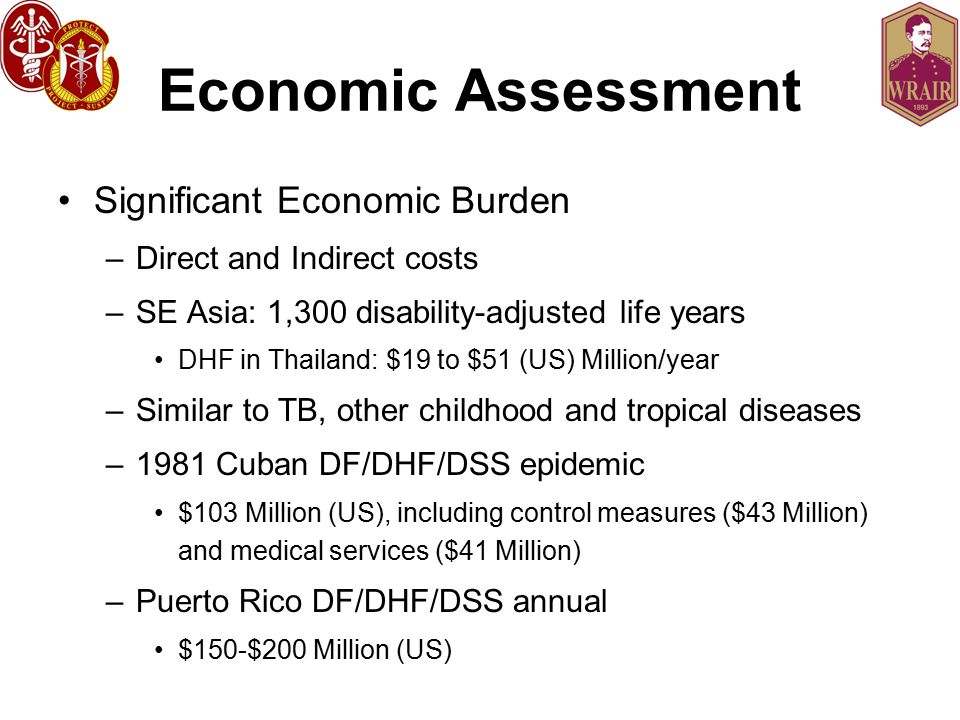 Economic Assessment Significant Economic Burden