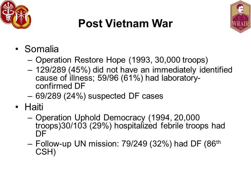 Post Vietnam War Somalia Haiti