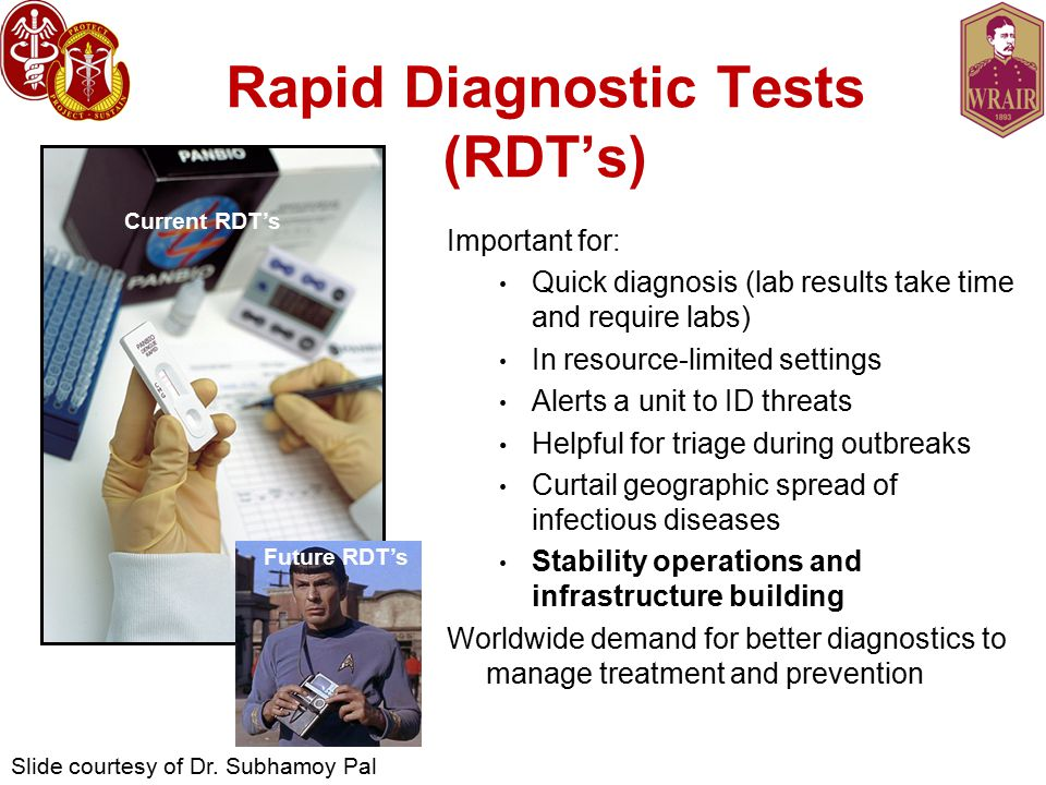 Rapid Diagnostic Tests (RDT's)
