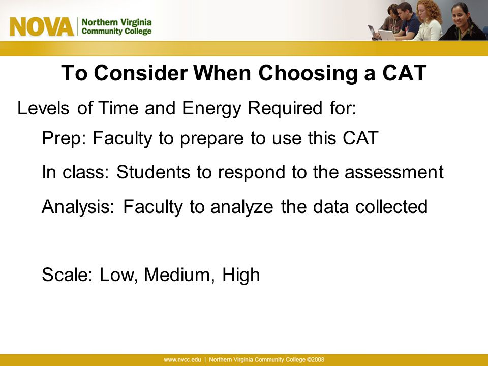 To Consider When Choosing a CAT