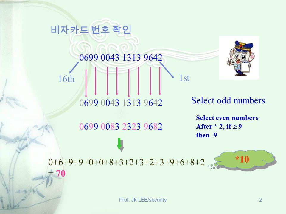 비자카드 번호 확인 0699 0043 1313 9642 1st 16th Select odd numbers