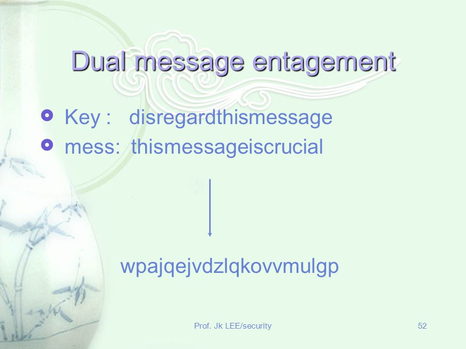 Dual message entagement