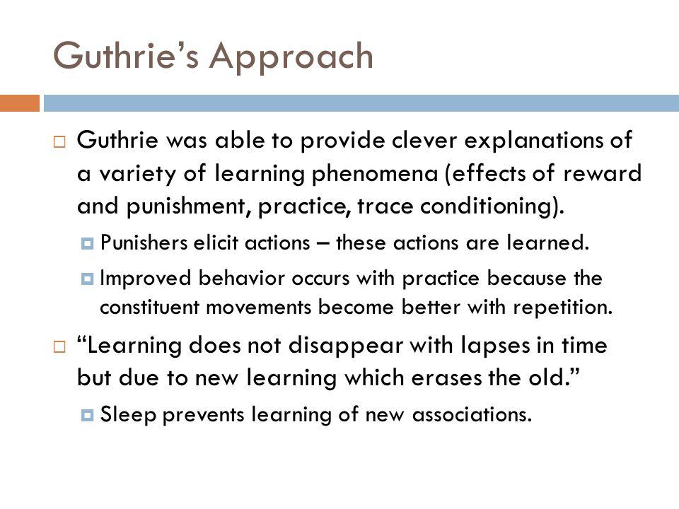 Guthrie's Approach