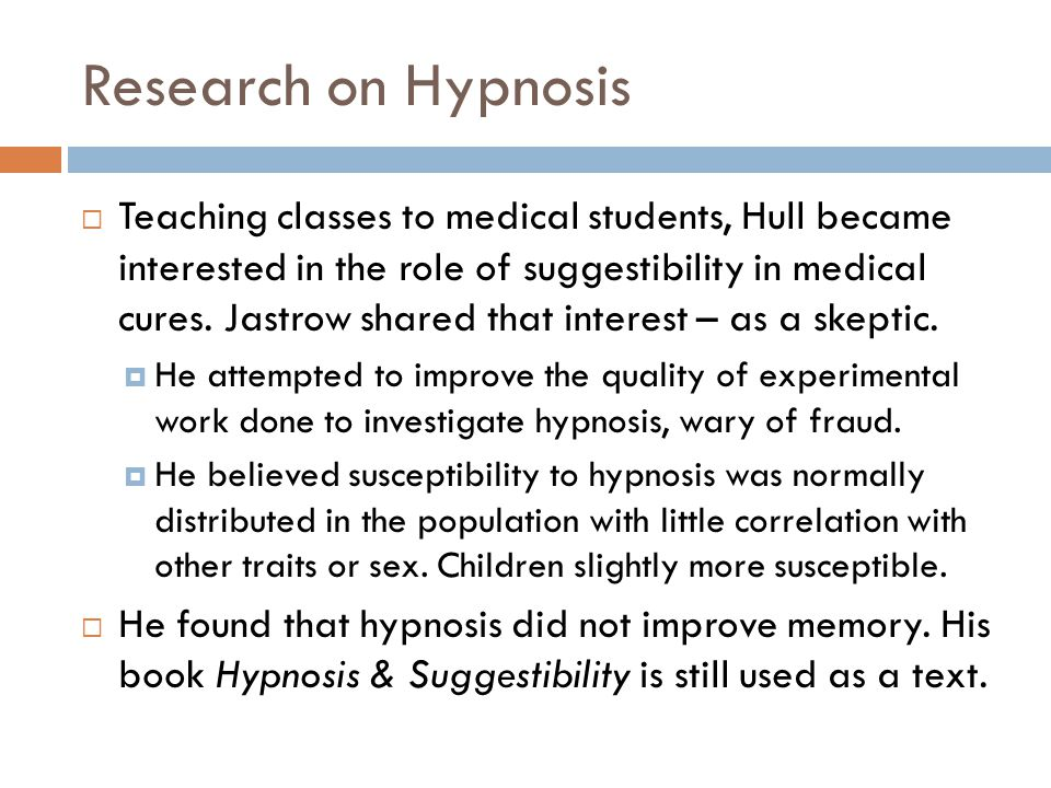 Research on Hypnosis