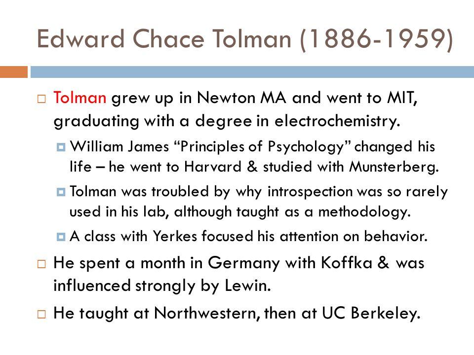Edward Chace Tolman (1886-1959)