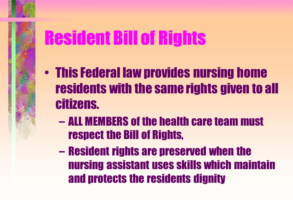 Resident Bill of Rights