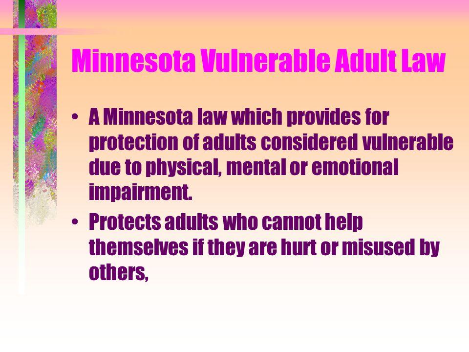 Minnesota Vulnerable Adult Law