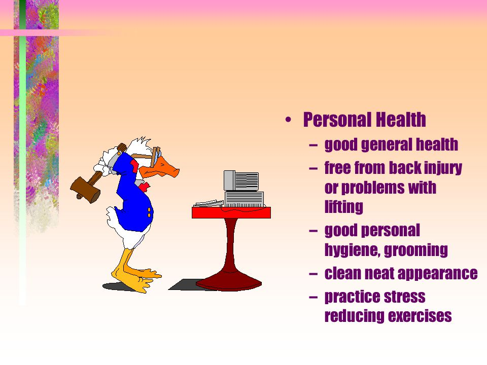 Personal Health good general health