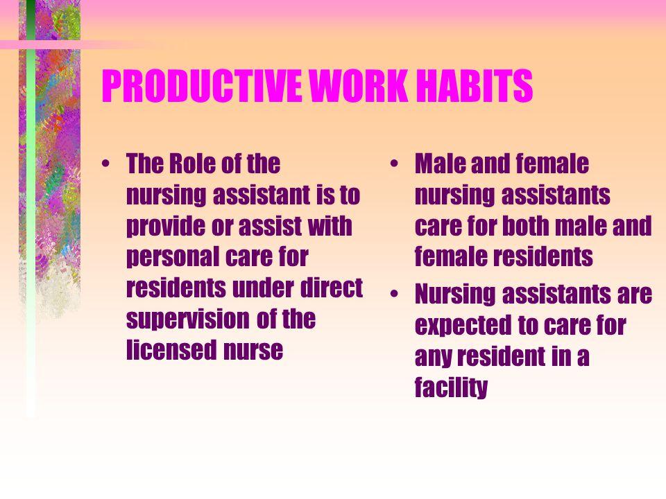 PRODUCTIVE WORK HABITS