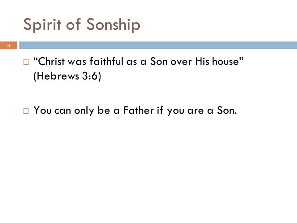 Spirit of Sonship 3.