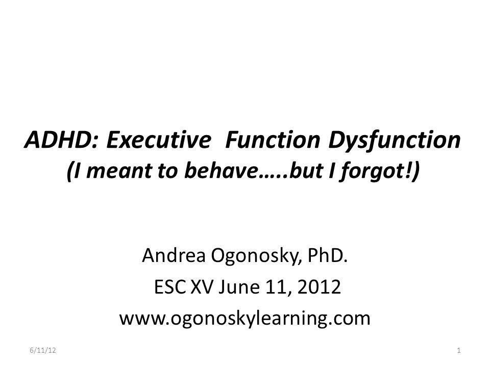 Andrea Ogonosky, PhD. ESC XV June 11, 2012 www.ogonoskylearning.com