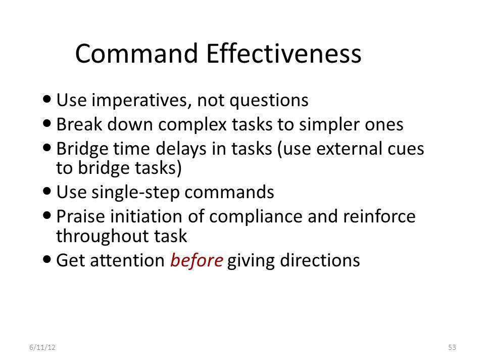Command Effectiveness