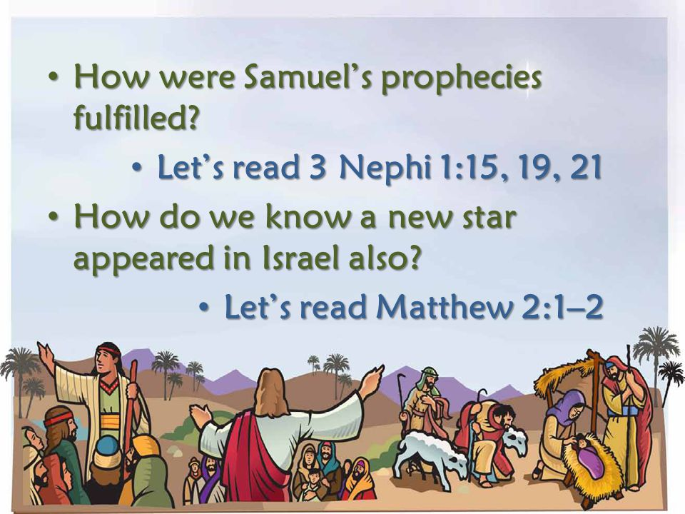 How were Samuel's prophecies fulfilled
