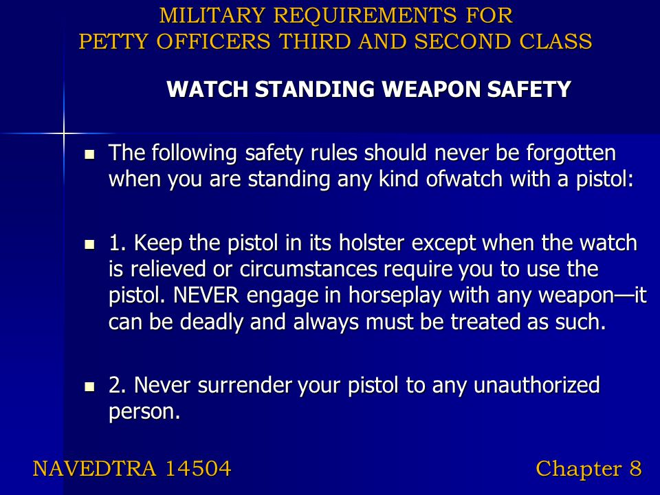 MILITARY REQUIREMENTS FOR PETTY OFFICERS THIRD AND SECOND CLASS