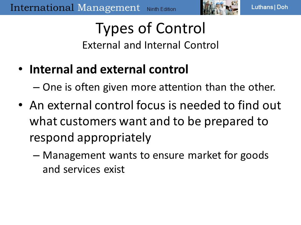 Types of Control External and Internal Control